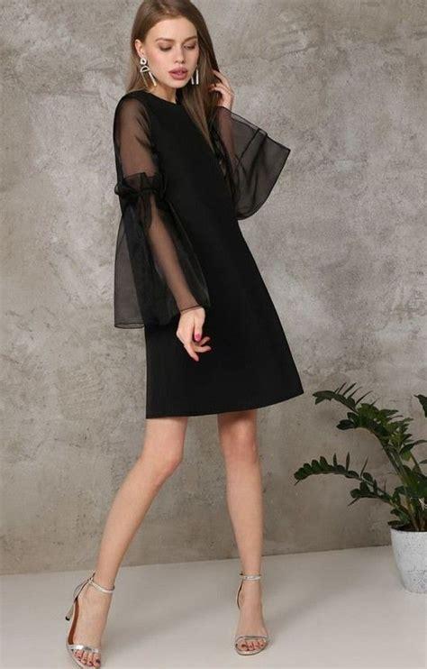 Модное черное платье 2018 . явмоде