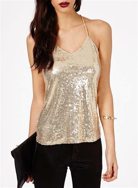 Shop Schwof Women Sleeveless Shimmer Strappy Top Online