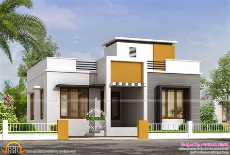 one floor house 850 sq ft flat roof one floor home kerala home design