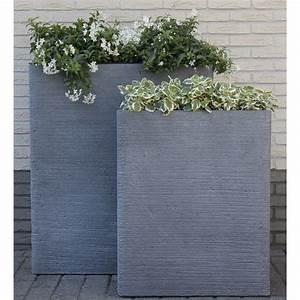 Bac Plantes Exterieur Castorama : bac fleurs fibre de terre stri e clayfibre l60 h72 cm ~ Dailycaller-alerts.com Idées de Décoration