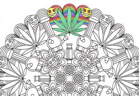 mandala coloring page marijuandala printable coloring page