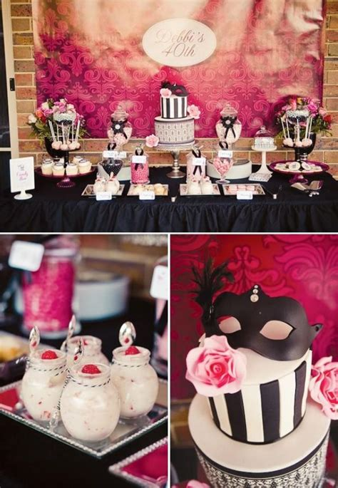 If you are looking for birthday party ideas for adults look no further! Chic Masquerade Themed 40th Birthday Party #2026467 - Weddbook