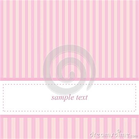 card invitation vector template  pink stripes