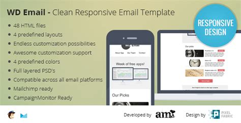 wd email clear responsive email template emails