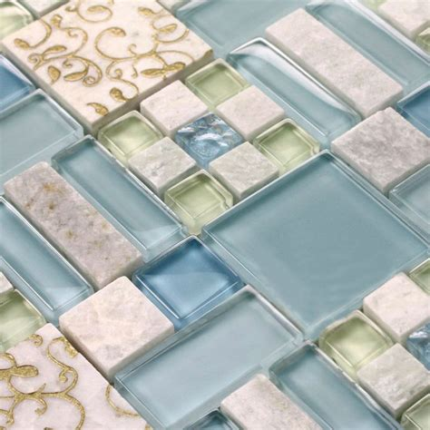 Tile Sheets For Bathroom Walls by Marble Tile Sheets Square Mosaic Wall Kitchen