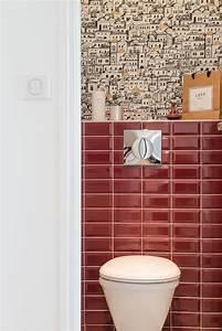 Papier Peint Pour Wc : d co wc moderne et tendance c t maison ~ Nature-et-papiers.com Idées de Décoration