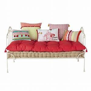 Matelas 5 coussin en coton pinkplanet maisons du monde for Tapis chambre enfant avec canapé avec vrai matelas