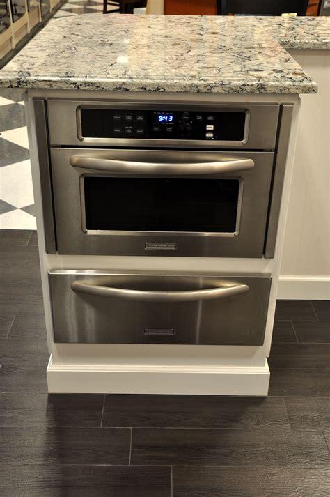 microwave in kitchen island kitchenaid mircowave with cook warming drawer below 7491