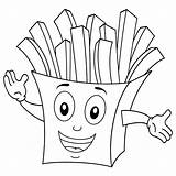 Coloring Fries Pages French Mcdonald Mcdonalds Cute Paper Bag Ronald Chips Cartoon Potato Fried Smiling Getdrawings Getcolorings Printable Illustration Colorings sketch template