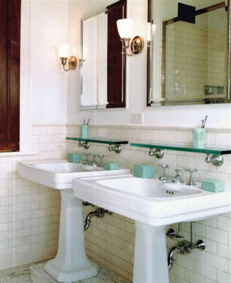 Elements Of A Vintage Bath Cove Molding Pedestal Sink