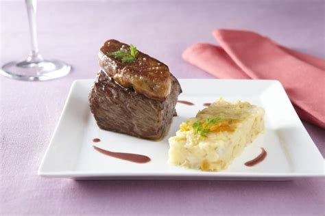 formation cuisine gastronomique recette de pavé de biche façon rossini écrasée de légumes
