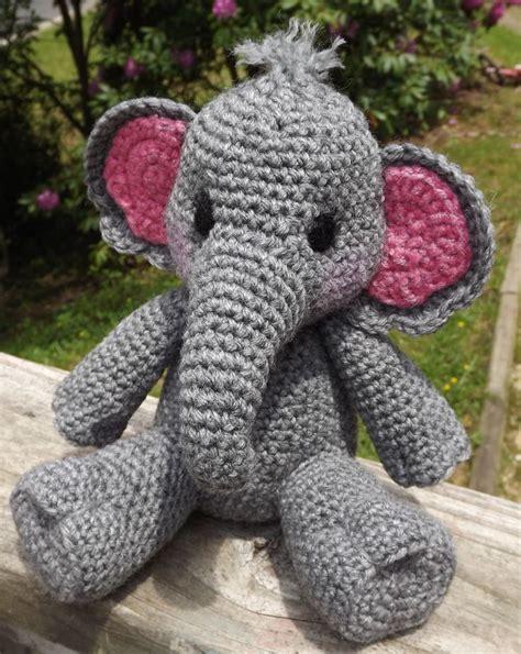 crochet elephant baby elephant amigurumi crochet pattern pdf doll not included