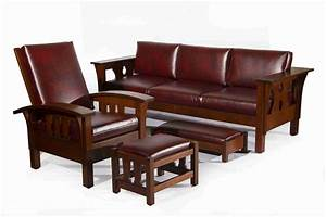 Mission Style Sofa Table Plans Solid Wood Mission Sofa