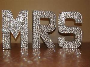 gorgeous rhinestone monogram letters quotmrquot and quotmrs With bedazzled letters