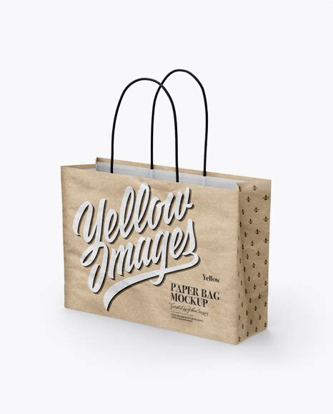 Ready to use in your projects, app and showcases. Download Psd Mockup 3/4 Bag Eurotote Golden Layer Half ...