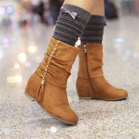 Fall Winter Shoe Trends Jeans Tights