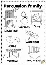 Glockenspiel Percussion Coloring Instruments Bells Pages Tubular Template Line Puzzles Templates sketch template