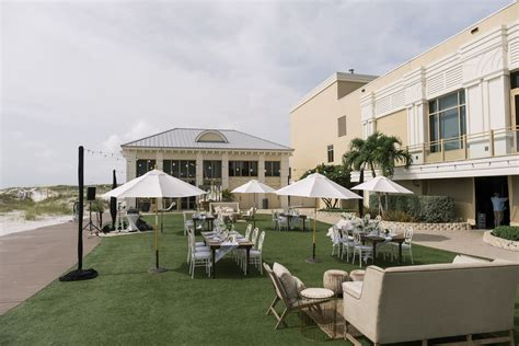 Classic Wedding Reception Decor on Lawn of Clearwater
