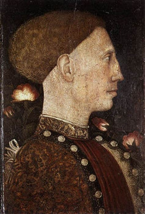 portrait de leonello d este de pisannelo