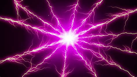 what color is electricity lightning strikes black background 8 stock footage