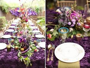 purple and gold bridal shower ideas With small wedding shower ideas