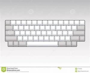 Blank Keyboard Layout Stock Illustration  Illustration Of