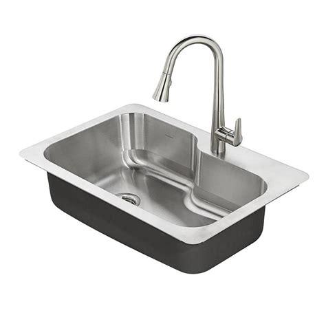 stainless steel single bowl undermount kitchen sink shop american standard raleigh 33 in x 22 in single basin