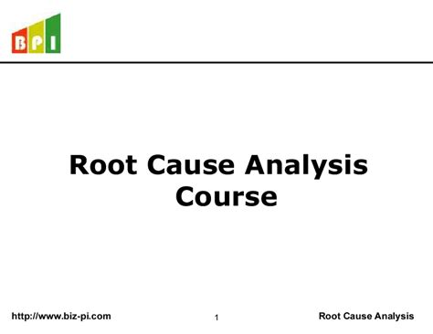 root  analysis powerpoint
