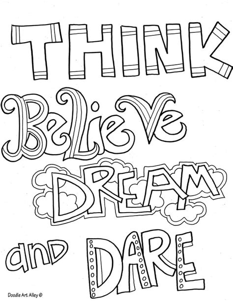 coloring pages quotes quote coloring pages doodle alley