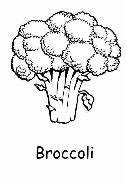 Broccoli Coloring Pages Healthy Printable Brocolli Goblin
