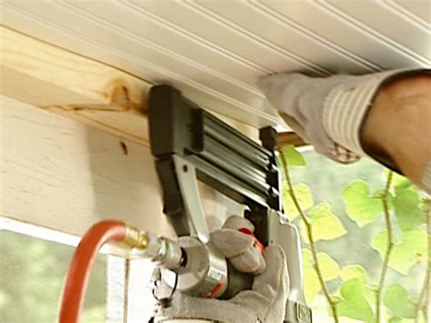 Installing A Ceiling by How To Install A Beadboard Ceiling In A Porch How Tos Diy