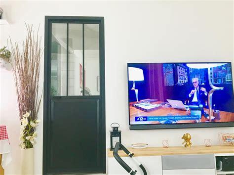 porte coulissante en verre pour cuisine bloc porte noir atelier verre clair artens h 204 x l 73