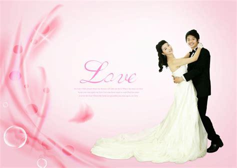 romantic valentine wedding psd material
