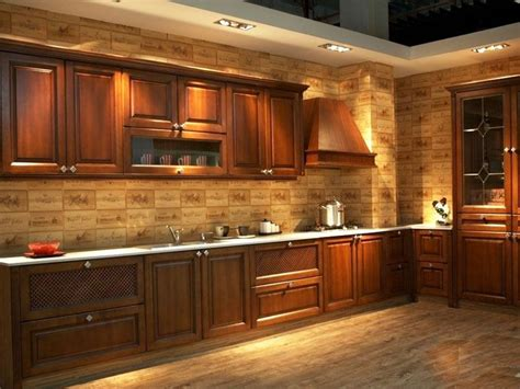 design customize american solid wood kitchen