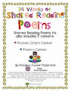 34 Weeks Of Shared Reading Poems Pocket Chart Poetry