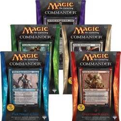 2014 magic the gathering mtg commander set of 5 factory