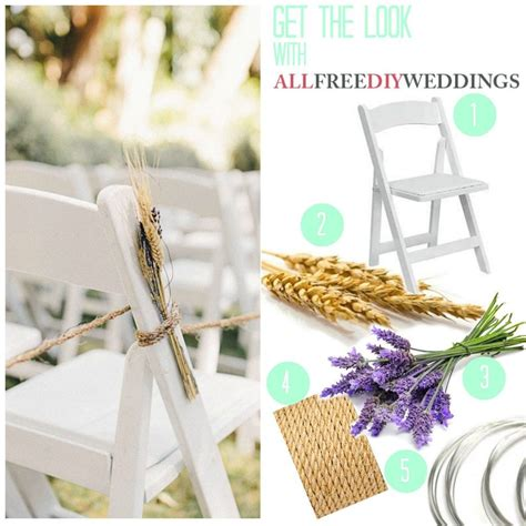 Lavender And Wheat Wedding Aisle Decorations