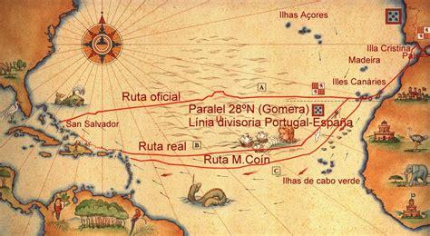 Rutas De Los Barcos De Cristobal Colon by Catalonia History Histo Cat Col 243 N Y La Ruta Del Primer