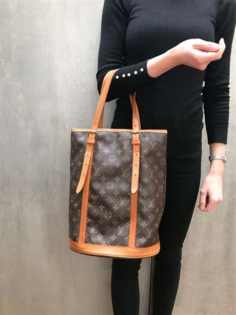 louis vuitton bucket gm monogram canvas luxury bags