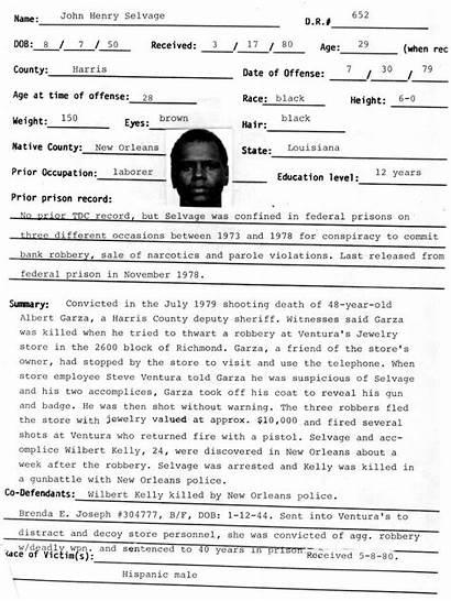 John Henry Selvage Texas Murderpedia 1980 2d