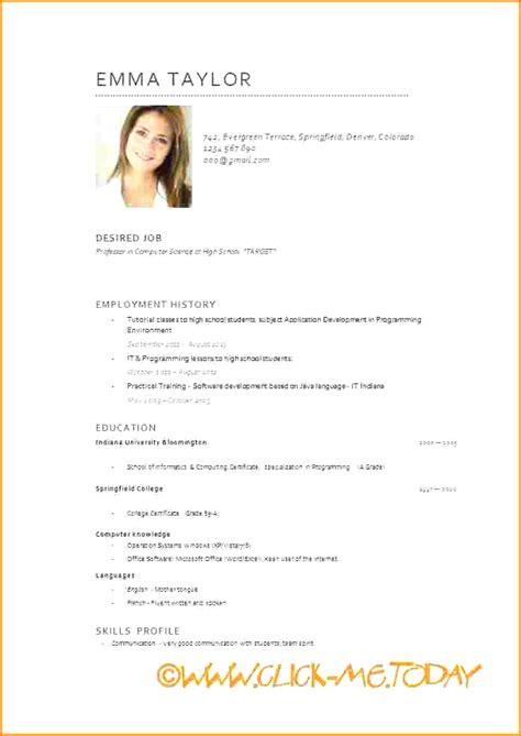 Modèle Word Cv by Word Curriculum Vitae Laboite Cv Fr