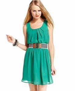 BCX Juniors Dress, Sleeveless Belted - from Macys | Epic ...