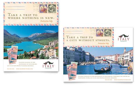 italy travel poster template word publisher