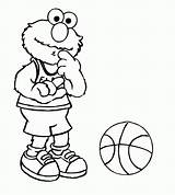 Coloring Elmo Pages Printable sketch template