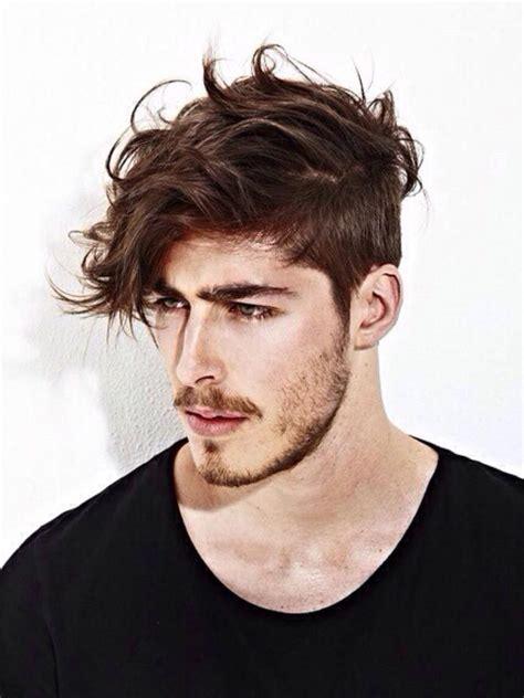 modern cowlick natural  trendy medium hair