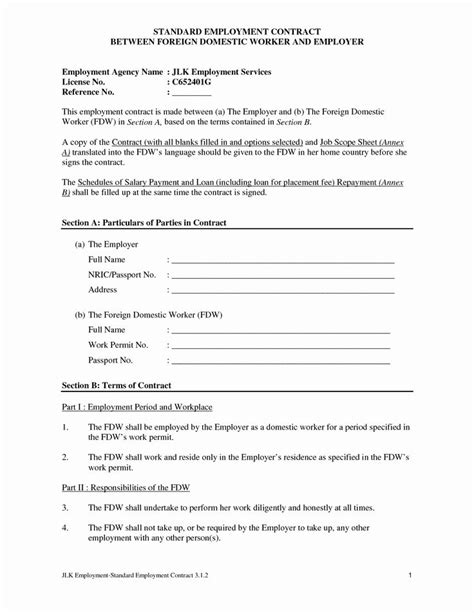 Awesome Blank Contract Mughals in 2020 | Contract template, Career portfolio template, Employee