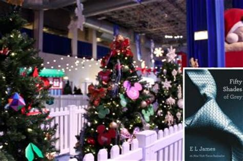 fifty shades xmas tree ornaments 50 shades of grey tree yanked from navy pier winter wonderfest streeterville