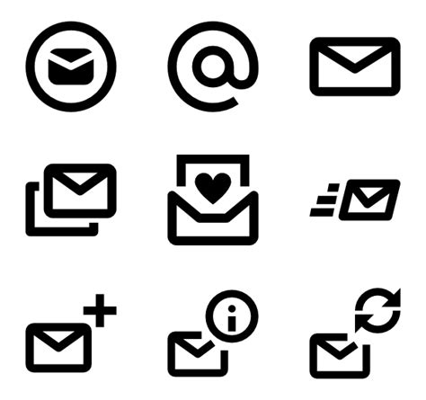 email icons 5 523 free vector icons