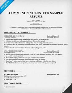 Sample resume showing volunteer work community volunteer for How to list volunteer work on resume sample
