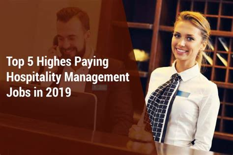 Top 5 Highest Paying Hospitality Management Jobs In 2019
